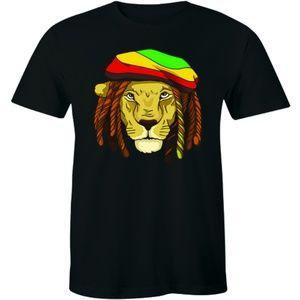 Reggae Jamaica Rastacap Hat Lion T-shirt Tee